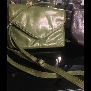 Hobo international green leather crossbody